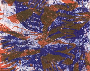 Original print - Orange and blue giclee - LIMITED EDITION of 9