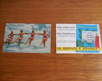 2 Vintage postcards 1950's