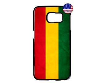Cool Reggae Rasta Flag Jamaican Hard Rubber TPU Case Cover For Samsung Galaxy S8 S7 S6 Edge Plus S5 S4 S3 NOTE 5 4 3 2 iPod Touch 4 5 6