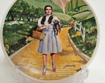 Wizard of Oz Vintage Dorothy Plate, Over the Rainbow, Yellow Brick Road, Dorothy and Toto, Knowles Fine China, Numbered Collectors Plate