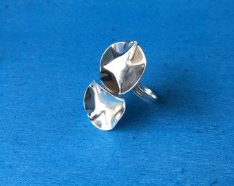 Silver Disks Ring- FREE SHIPPING