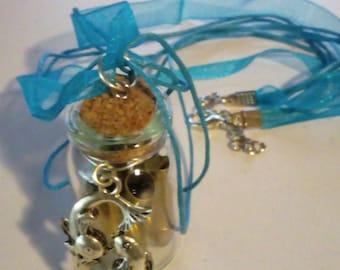Pisces Bullet Casing Vial Necklace