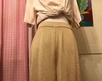 St John Gold Disco Pants 1970s