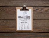 NEW! 2018 Letterpress National Park Calendar