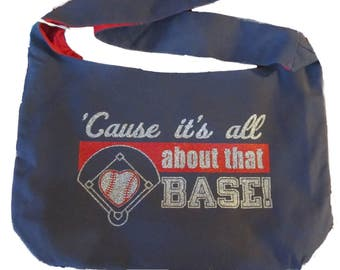Glitter Cause it's all about that Base! Canvas Sling Bag