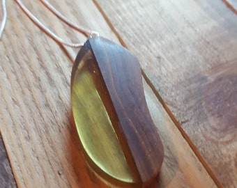 Exotic Wood and Resin Necklace