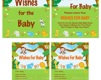 Safari Wishes For Baby, Jungle Wishes For Baby, Jungle Baby Wishes, Safari Baby Wishes, Safari Newborn Wishes - Printables 4 Less 0074
