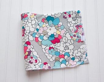Knit Swaddle Receiving Blanket: Vibrant Pop Art Floral Print Blanket