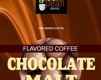 Fresh roasted coffee, CHOCOLATE MALT flavored coffee, dripping with creamy milk chocolate. 12oz(350g)