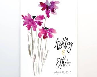 Wedding Guest Book Calendar, 11x14, Perpetual Calendar, cal0047