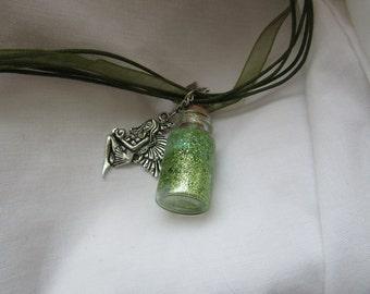 forest faerie sparkles potion, pendant,necklace