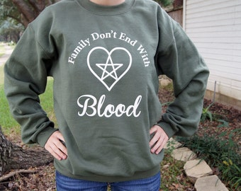 Family Don't End With Blood Supernatural Bobby Singer Sweatshirt