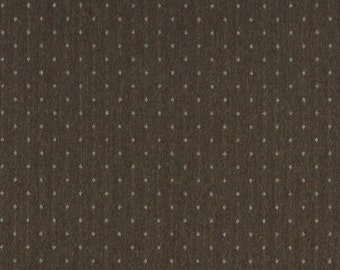 Two Toned Brown Dotted Country Style Upholstery Fabric By The Yard | Pattern # C613