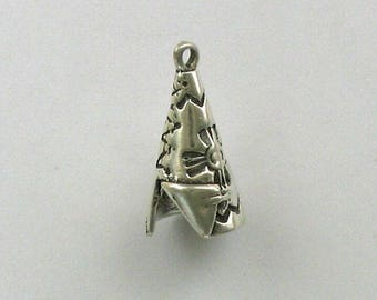 925 Sterling Silver Teepee Charm, Western & Native American Theme Jewelry - west12