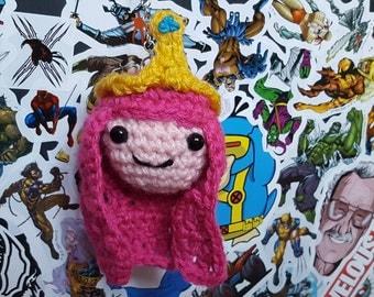 Adventure time Princess Bubblegum crochet amigurumi keyring bag charm crochet