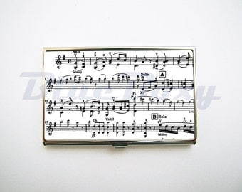 Music Note - Card Holder, Business Card Case, Credit Card Case