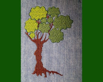 Big Tree Embroidery File PES 5X7, actual approximate size is 5X7