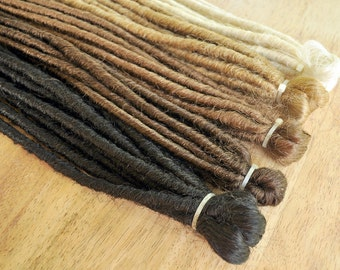30 x Double Ended Dreadlocks (15 Extensions, 30 Dreads when folded) 50cm/20inches long