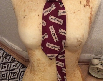Authentic Vintage Dolce and Gabbana silk tie