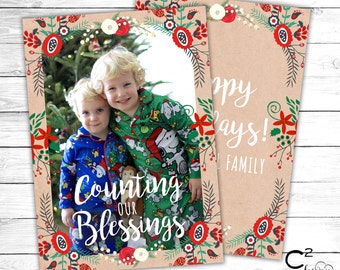 Counting our Blessings Holiday Card
