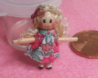 Little Lily Lollipop - Handcrafted OOAK tiny collectable dolly or dolls house toy