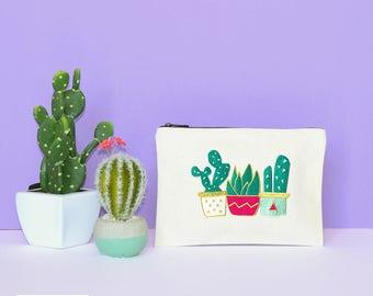 Cactus pouch - zipper pouch