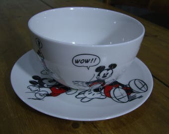 Disneyland Paris Mickey Mouse Bowl and Plate