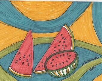 sliced melons