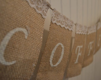 Customizable Burlap Wedding Banner, Burlap Banner, Wedding Banner, Photoprop