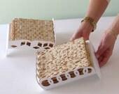Seder Table Centerpiece, Passover Gift,  Matzah Plate - Rings Pattern, Pessach hostess gift  modern Judaica, Jewish gift, Made in Israel