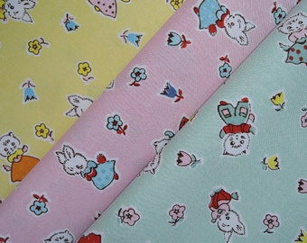Bundle of 1/8 Penny Rose Fabrics Milk, Sugar and Flower by ELEA LUTZ in 3 colorways.