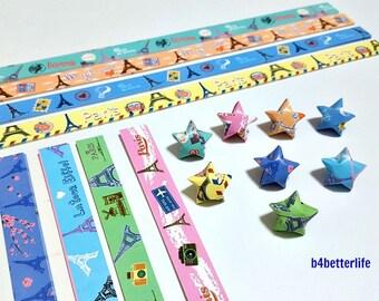 250 strips of DIY Origami Lucky Stars Paper Folding Kit. 26cm x 1.2cm. #P0811. (XT Paper Series).
