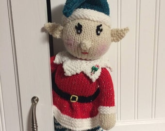 Knit Baby Elf doll