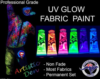"Uv Glow Fabric Paint Glow Screen Printing Ink Permaset Compatible Screen Paint  "" FREE POSTAGE """