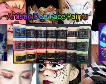 16 x  250ml Face Paints Face & Body Paints    Non Toxic Water Based