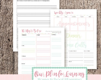 Undated Agenda Kit with Meal Planner - Our Plan for Learning
