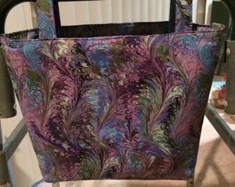 Walker Caddy Bag (swirls of purple)