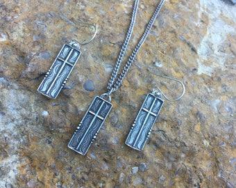 Western Cross Earring & Pendant Set