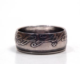 Size 7 Lord Of The Rings One Ring To Rule Them All Coin Ring