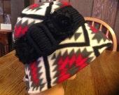 Southwestern Fleece Bucket Cloche Style Hat