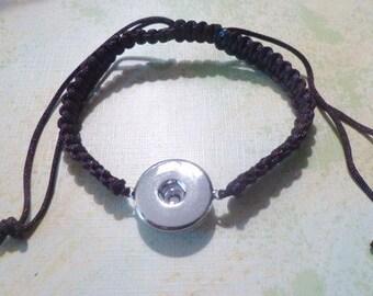 Dark Brown Ajustable Macrame  Bracelet