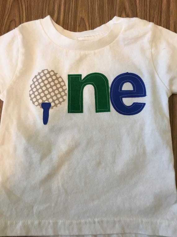 golf birthday theme shirt, baby boy one golf ball shirt, Golf 1 2 3 4 birthday shirt, tee first birthday shirt, First birthday shirt