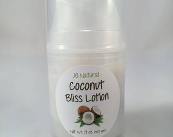 All Natural Coconut Bliss Lotion - NEW PACKAGE!
