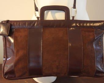 Gorgeous!! Leather+Suede Authentic Vintage BOTTEGA VENETA Shoulder-Tote-Handbag