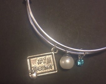 Adjustable Charm Bracelet-Teacher