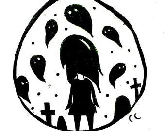 """6x8 Digital Art Print - """"Ghosts"""""""