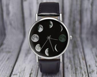 Moon Phase Watch | Astronomy Watch | Space Watch | Lunar Watch | Ladies Watch | Mens Watch | Gift Idea | Wedding Gift | Birthday Gift