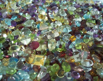 Awesome Random Mixed Parcels of Natural Faceted Gemstones, Jewelers Special-Larger Stones
