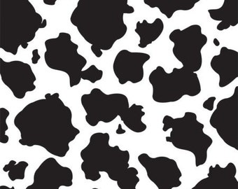 "Canvas Corp Single-Sided Printed Cardstock 12""X12""-Black & White Cow"