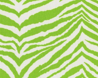 Tunisia Chartreuse/White Fabric by Premier Prints